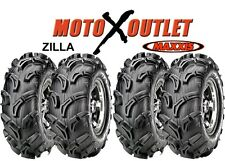 "Maxxis Zilla Atv Tires 25x8-12 25x10-12 Utv Set of 4 25"" 6 Ply 2 Front Rear"