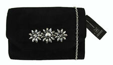 ** INC INTERNATIONAL CONCEPTS FAYE Black Faux Suede Shoulder Clutch Msrp $89.50