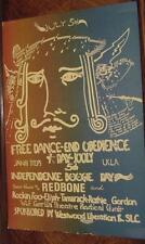 Vietnam Era Revolution Poster-End Obedience Concert-Redbone-SLC-Black Power