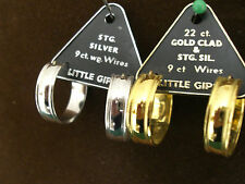 EARRINGS, LITTLE GYPSY 925 STERLING SILVER, 9ct WHITE GOLD WIRESorGOLD PLATED