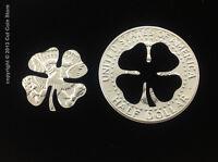 2019 Golf Ball Marker Good Luck Four-Leaf 4 LEAF Clover Cut Coin 50¢ Half Dollar