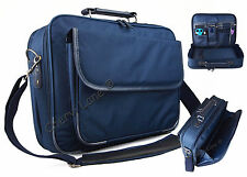 "Quality 15"" Mens Womens Navy Laptop College Work Business Briefcase Holdall Bag"