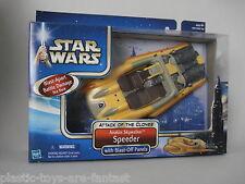STAR WARS EP2 - Attack of the Clones - Anakin Skywalker Speeder MISB CASE FRESH