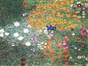 GUSTAV KLIMT FLOWER GARDEN 1907 OLD MASTER ART PAINTING PRINT POSTER 1101OM