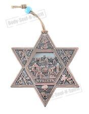 JERUSALEM STAR OF DAVID Soul holy souvenir Success Copper plated Wall Hanging
