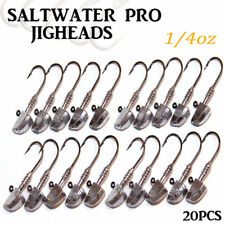20 1/4oz Jig Heads Fishing Lures Soft Plastics Bullet for Gulp Bass Bream Perch