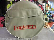 "LAMBRETTA S3 Li TV SX GP ALL MODELS 10"" SPARE WHEEL COVER GREY WITH POCKET"