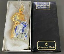 Vintage 1999 Christopher Radko Disney Star Wars C3PO R2D2 Glass Ornament 99STW01