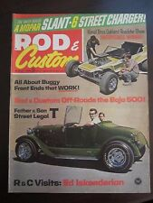 Rod & Custom Magazine August 1969 Baja 500 Dune Buggy Street Legal T (JJ)