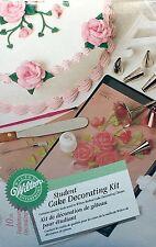 New Wilton Student Cake Decorating Kit Tips Bags Flower Nail Art Brush Spatula