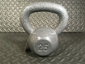 Weider 25 lb Pound Kettlebell Hammertone Grey Cast Iron FREE SHIPPING In Stock