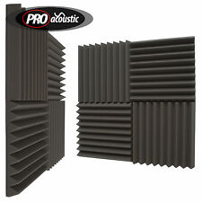 "24x AFW305 Pro Acoustic Foam Wedge Tiles.   12"" 305mm Studio Sound RoomTreatment"