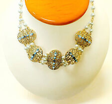 """Blue Simulated Pearl 16"""" Women's Fashion Necklace"""