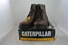 CATERPILLAR BROWN LEATHER BOOTS UK 12 HIGH LEG WORK/LEISURE VERY RARE DESIGN