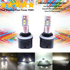 880 LED Fog Driving Light Bulbs Kit Ultra Bright Canbus 30W 6000K Clear White