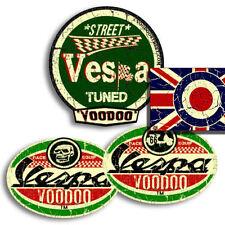 VESPA  STICKERS, SELF ADHESIVE + FREE ROUNDEL UNION JACK STICKER!