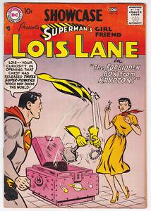 Showcase #10 Very Good Plus 4.5 Superman Lois Lane Wayne Boring Art 1957