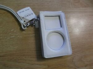 AUTHENTIC COACH WHITE LEATHER IPOD Case Holder NEW w TAG
