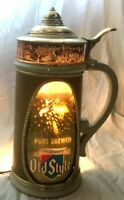 Vintage OLD STYLE MOTION BUBBLING Lighted Beer Mug Bar Advertising Sign