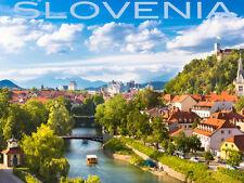 "20x30"" CANVAS Decor.Room art print.Travel shop.Slovenia lovely city view.6044"