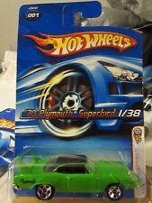Hot Wheels '70 Plymouth Superbird 2006 First Editions #001 Green 5 sp