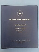 MERCEDES BENZ WORKSHOP MANUAL  PASSENGER CARS VOL 2 Starting August 1957 BINDER