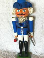 """RARE Erzgebirge George Washington Blue General Soldier German nutcracker 14"""""""