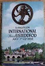 1959 Llangollen International Eisteddfod Programme NAN MERRIMAN, FOU TS'ONG