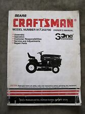 Sears 917.252700 Lawn Tractor Owners Manual