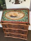 Antique Nautical Hand Painted Folk Art Ships Chest of Drawers/ Desk ~ WOW!!