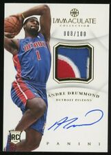 2012-13 Immaculate Andre Drummond RPA RC 3-Color GU Patch AUTO 008/100