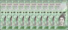 Venezuela 5,000 (5000) Bolivares X 10 Pieces (PCS), 2007-17, P-NEW, UNC