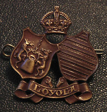 CANADA WW2 LOYOLA COLLEGE Canadian Officer's Training Corps COTC cap badge