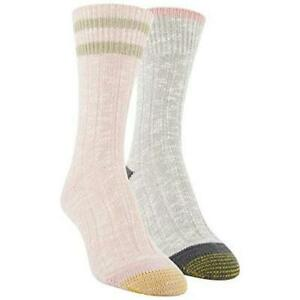 Women's Lux Slub Boot Crew Socks, 2 Pairs, Peacoat, Size  isyl