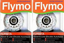 2 x FLYMO Strimmer Spool & Line Double Autofeed Contour XT Auto Plus FLY021A