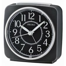 Seiko QHE140K Beep Alarm Clock With Snooze - Black