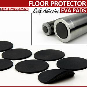 28 BLACK EVA RUBBER FURNITURE PADS SELF ADHESIVE ANTI SKID FLOOR PROTECTORS 28mm
