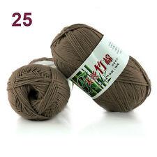 Hot 55 colours Soft Bamboo Crochet Cotton 50g Knitting Yarn Baby Knit Wool Yarn