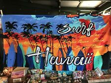 Hawaii Beach Towel With Colorful Surf Boards Lined Up