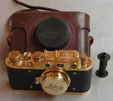 Leica II D Olympia 1936 copy gold in leather case (FED Zorki copy)