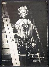 Eva Marton - Turandot - Oper Operette Musik - Film Foto Autogramm-AK (Y-2046