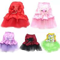 Small Dog Princess Dress Spring Summer Pet Puppy Clothes Skirt For Teddy HOT!