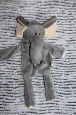 DOUDOU PELUCHE HISTOIRE D'OURS ELEPHANT PLAT GRIS MARIONNETTE ETAT NEUF