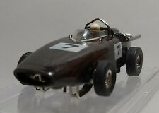 TYCO S SPEEDWAYS BRM F-1 HO SLOT CAR WITH AUTO WORLD T-JET CHASSIS