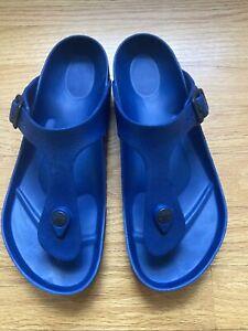 Authentic Birkenstock Gizeh EVA Single Strap Women's Sandals Size 38/US 7, Navy