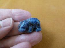 "(Y-Hip-504) 1"" Blue Sodalite Hippo Hippopotamus stone Gemstone carving hippos"