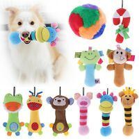 Plush Pet Dog Puppy Chew Fetch Play Toy Squeaker Squeaky Sound Pig Bear Monkey