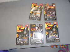 NIP 5 Johnny Lightning Kiss Cars w Cards Gene Simmons Peter Criss Peter Stanley