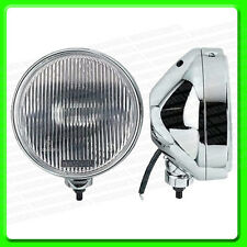 "A Pair of Chrome Driving Lights With Clear Lens  [JF786] 6½"" (18 cm)"