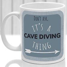 Cave Diving chose Mug, idéal pour n'importe quelle Grotte Diver (bleu)